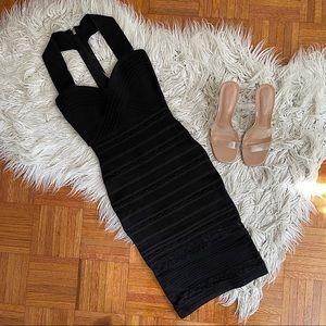 MARCIANO midi dress XS PERFECT little black dress
